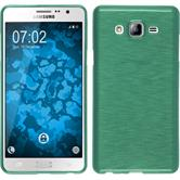 Silicone Case for Samsung Galaxy On7 brushed pastel green