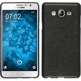 Silicone Case for Samsung Galaxy On7 brushed silver