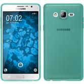Silicone Case for Samsung Galaxy On7 transparent turquoise