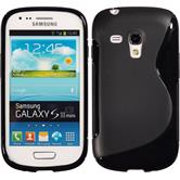 Silicone Case for Samsung Galaxy S3 Mini S-Style black