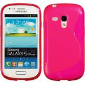 Silicone Case for Samsung Galaxy S3 Mini S-Style hot pink