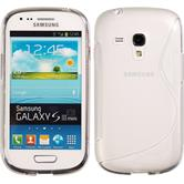 Silicone Case for Samsung Galaxy S3 Mini S-Style transparent