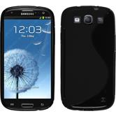 Silicone Case for Samsung Galaxy S3 Neo S-Style black