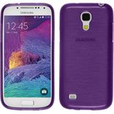 Silicone Case for Samsung Galaxy S4 Mini Plus brushed purple