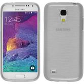 Silicone Case for Samsung Galaxy S4 Mini Plus brushed white