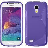 Silicone Case for Samsung Galaxy S4 Mini Plus S-Style purple