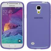 Silicone Case for Samsung Galaxy S4 Mini Plus transparent purple