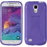 Silicone Case for Samsung Galaxy S4 Mini Plus X-Style purple