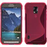 Silicone Case for Samsung Galaxy S5 Active S-Style hot pink