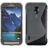 Silicone Case for Samsung Galaxy S5 Active S-Style transparent