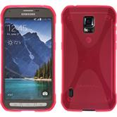 Silicone Case for Samsung Galaxy S5 Active X-Style hot pink