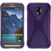 Silicone Case for Samsung Galaxy S5 Active X-Style purple