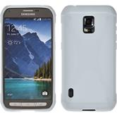 Silicone Case for Samsung Galaxy S5 Active X-Style white