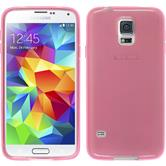 Silicone Case for Samsung Galaxy S5 mini transparent pink
