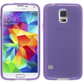 Silicone Case for Samsung Galaxy S5 mini transparent purple