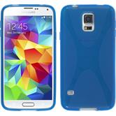 Silicone Case for Samsung Galaxy S5 mini X-Style blue