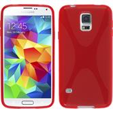 Silikonhülle für Samsung Galaxy S5 mini X-Style rot