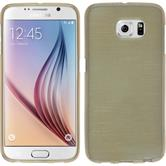 Silicone Case for Samsung Galaxy S6 brushed gold