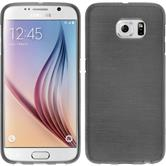 Silicone Case for Samsung Galaxy S6 brushed silver