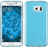 Silicone Case for Samsung Galaxy S6 Edge Iced light blue
