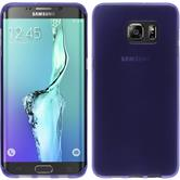 Silicone Case for Samsung Galaxy S6 Edge Plus transparent purple