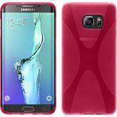 Silicone Case for Samsung Galaxy S6 Edge Plus X-Style hot pink
