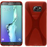 Silicone Case for Samsung Galaxy S6 Edge Plus X-Style red