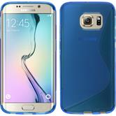 Silicone Case for Samsung Galaxy S6 Edge S-Style blue