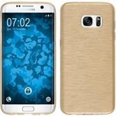 Silicone Case for Samsung Galaxy S7 Edge brushed gold