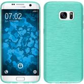 Silicone Case for Samsung Galaxy S7 Edge brushed light blue