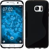 Silicone Case for Samsung Galaxy S7 Edge S-Style black