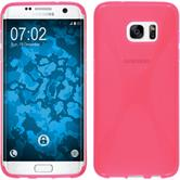 Silicone Case for Samsung Galaxy S7 Edge X-Style hot pink