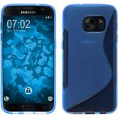 Silicone Case for Samsung Galaxy S7 S-Style blue