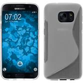 Silicone Case for Samsung Galaxy S7 S-Style transparent