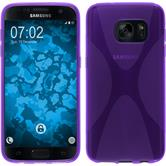 Silicone Case for Samsung Galaxy S7 X-Style purple
