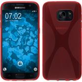 Silicone Case for Samsung Galaxy S7 X-Style red
