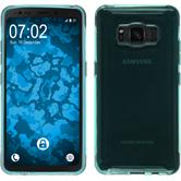 Silicone Case Galaxy S8 Active transparent turquoise Case