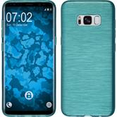 Silicone Case Galaxy S8 brushed turquoise + Flexible protective film