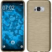 Silicone Case Galaxy S8 brushed gold + Flexible protective film
