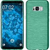 Silicone Case Galaxy S8 brushed green + Flexible protective film