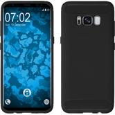 Silicone Case Galaxy S8 Plus Ultimate black + Flexible protective film