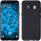 Silicone Case Galaxy S8 Plus Ultimate blue + Flexible protective film