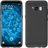 Silicone Case Galaxy S8 Plus Ultimate gray + Flexible protective film