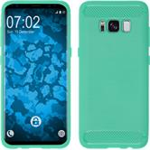 Silicone Case Galaxy S8 Plus Ultimate turquoise + Flexible protective film
