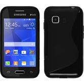 Silicone Case for Samsung Galaxy Young 2 S-Style black