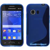 Silicone Case for Samsung Galaxy Young 2 S-Style blue