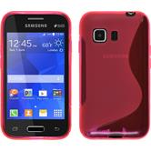 Silicone Case for Samsung Galaxy Young 2 S-Style hot pink