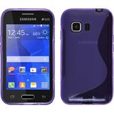 Silicone Case for Samsung Galaxy Young 2 S-Style purple
