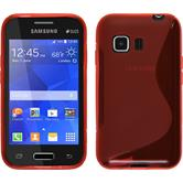 Silicone Case for Samsung Galaxy Young 2 S-Style red