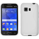 Silicone Case for Samsung Galaxy Young 2 S-Style white